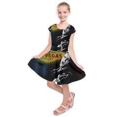 Elvis Presley - Las Vegas  Kids  Short Sleeve Dress