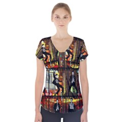 Elvis Presley - Las Vegas  Short Sleeve Front Detail Top