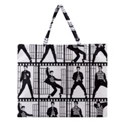 Elvis Presley Zipper Large Tote Bag