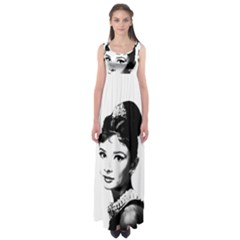 Audrey Hepburn Empire Waist Maxi Dress