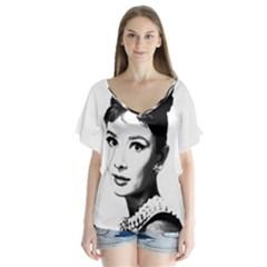 Audrey Hepburn Flutter Sleeve Top