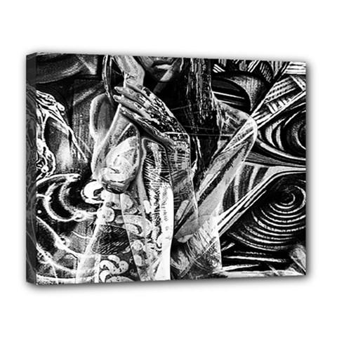 Gray girl  Canvas 14  x 11