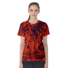 Red girl Women s Cotton Tee