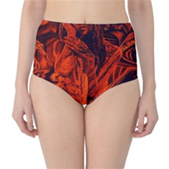 Red girl High-Waist Bikini Bottoms