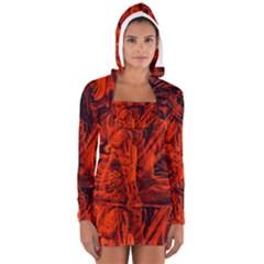 Red girl Women s Long Sleeve Hooded T-shirt