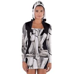 Stone girl Women s Long Sleeve Hooded T-shirt