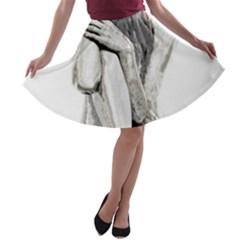 Stone girl A-line Skater Skirt