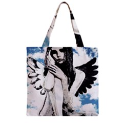 Angel Zipper Grocery Tote Bag