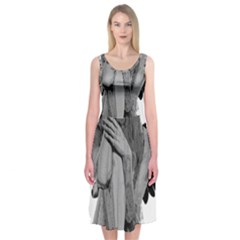 Stone angel Midi Sleeveless Dress