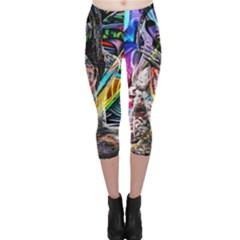 Graffiti girl Capri Leggings