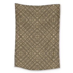 Wooden Ornamented Pattern Large Tapestry