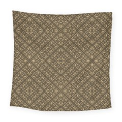 Wooden Ornamented Pattern Square Tapestry (large)