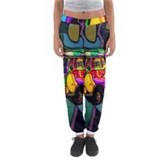 Hippie van  Women s Jogger Sweatpants