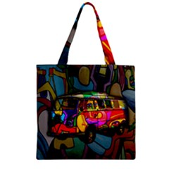Hippie van  Zipper Grocery Tote Bag