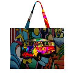 Hippie van  Large Tote Bag