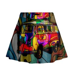 Hippie van  Mini Flare Skirt