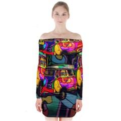 Hippie van  Long Sleeve Off Shoulder Dress