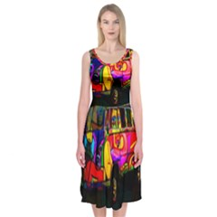Hippie van  Midi Sleeveless Dress