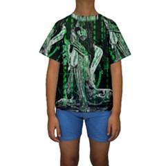 Cyber angel Kids  Short Sleeve Swimwear