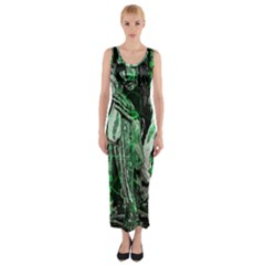 Cyber angel Fitted Maxi Dress