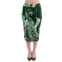 Cyber angel Midi Pencil Skirt