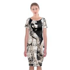 Vintage angel Classic Short Sleeve Midi Dress