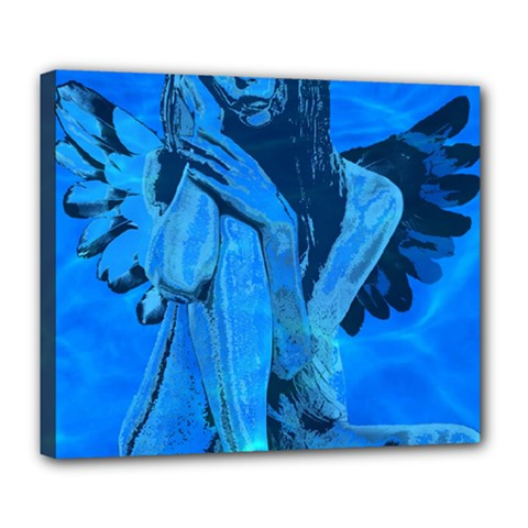 Underwater angel Deluxe Canvas 24  x 20