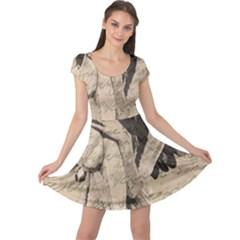 Vintage angel Cap Sleeve Dresses