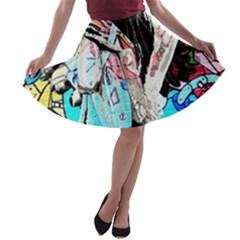 Graffiti angel A-line Skater Skirt