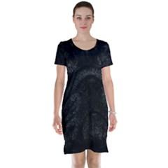 Black bulldog Short Sleeve Nightdress