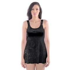 Black bulldog Skater Dress Swimsuit