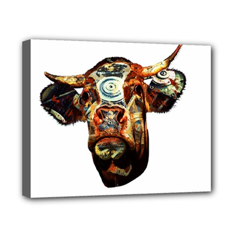Artistic Cow Canvas 10  x 8