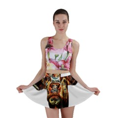 Artistic Cow Mini Skirt