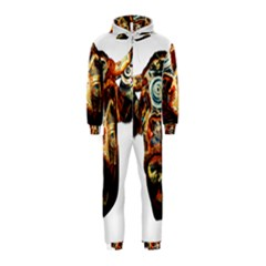 Artistic Cow Hooded Jumpsuit (Kids)