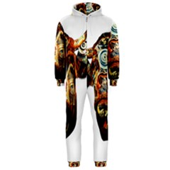Artistic Cow Hooded Jumpsuit (Men)