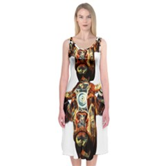 Artistic Cow Midi Sleeveless Dress