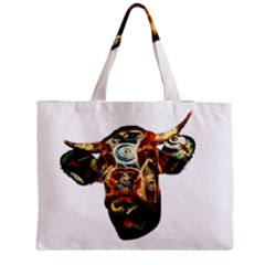 Artistic Cow Medium Zipper Tote Bag