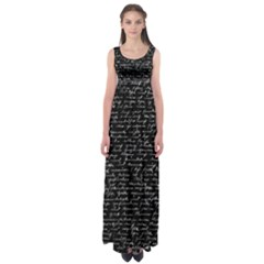 Handwriting  Empire Waist Maxi Dress