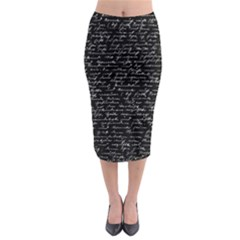 Handwriting  Midi Pencil Skirt