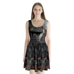 Akita second Split Back Mini Dress