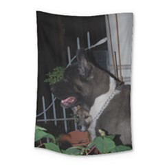 Akita second Small Tapestry