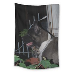 Akita second Large Tapestry