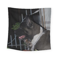 Akita second Square Tapestry (Small)