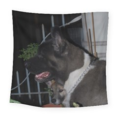 Akita second Square Tapestry (Large)