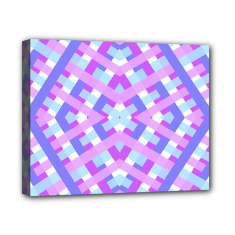 Geometric Gingham Merged Retro Pattern Canvas 10  X 8