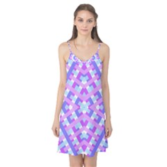 Geometric Gingham Merged Retro Pattern Camis Nightgown