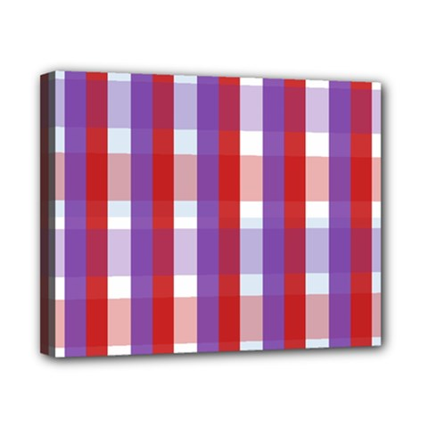 Gingham Pattern Checkered Violet Canvas 10  X 8