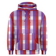 Gingham Pattern Checkered Violet Men s Pullover Hoodie
