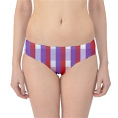 Gingham Pattern Checkered Violet Hipster Bikini Bottoms