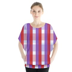Gingham Pattern Checkered Violet Blouse